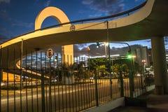 Sao Paulo, Brasilien, am 3. Mai 2011 Das Denkmal von Latein-Amerika ist eine kulturelle Mitte, politisch und die Freizeit, herein lizenzfreie stockfotos