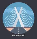 Sao Paulo, Brasilien, Vektor-Ikone Lizenzfreies Stockbild
