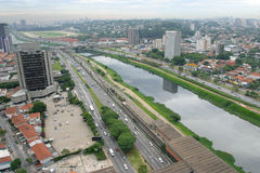 Sao paulo, brazil. Aerial view of sao paulo, the most important city in brazil Royalty Free Stock Photography