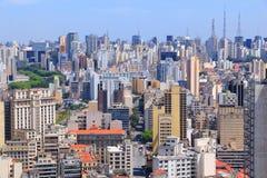 Sao Paulo. Brazil. Aerial view of skyscraper skyline Royalty Free Stock Image