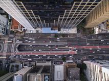 Sao Paulo, Brazil, August, 2017. Aerial view on Paulista Avenue, in Sao Paulo city. Sao Paulo, Brazil, August, 2017. Aerial view on Paulista Avenue, in Sao royalty free stock image