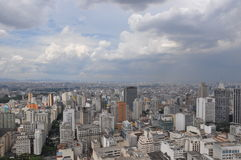 Sao Paulo Brazil City panorma skyline World cup Football viva Stock Image