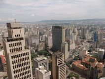 Sao Paulo Brazil City panorma skyline World cup Football viva Stock Photography