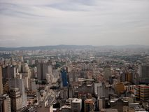 Sao Paulo Brazil City panorma skyline World cup Football viva Royalty Free Stock Images