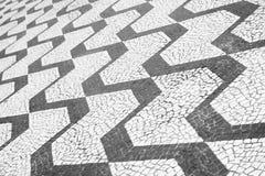 Sao Paulo Brazil Classic Sidewalk Pattern. Sao Paulo Brazil classic black and white sidewalk Portuguese pavement pattern Royalty Free Stock Photos