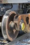 Close-up of train wheels Stock Image