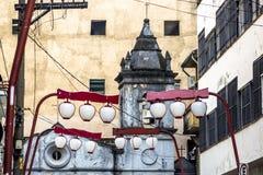 Nossa Senhora dos Aflitos Church. Sao Paulo, Brazil, January 24, 2013, Facade of the Chapel of Nossa Senhora dos Alfitos, located in an alley in Students street Royalty Free Stock Photos