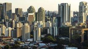 Sao Paulo Brazil, large city, large buildings. South America royalty free stock image