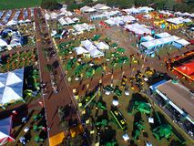 SAO PAULO, BRAZIL - May 1, 2017: Aerial view of Agrishow, 24th International Trade Fair of Agricultural Technology. Royalty Free Stock Photo
