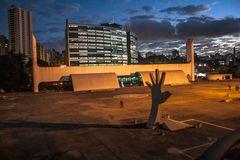 Sao Paulo, Brazil, May 03, 2011. The Memorial of Latin America is a cultural center, political and leisure, opened in March 18,. 1989 in Sao Paulo , Brazil royalty free stock images
