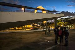 Sao Paulo, Brazil, May 03, 2011. The Memorial of Latin America is a cultural center, political and leisure, opened in March 18,. 1989 in Sao Paulo , Brazil stock image