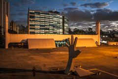 Sao Paulo, Brazil, May 03, 2011. The Memorial of Latin America is a cultural center, political and leisure, opened in March 18,. 1989 in Sao Paulo , Brazil stock photography