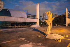 Sao Paulo, Brazil, May 03, 2011. The Memorial of Latin America is a cultural center, political and leisure, opened in March 18,. 1989 in Sao Paulo , Brazil royalty free stock photo