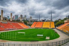 The museum of Football is a space devoted to the different subjects involving the practice, the history and cur, Sao Paulo, Brazi. Sao Paulo, Brazil: The museum stock images