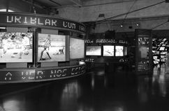 The museum of Football is a space devoted to the different subjects involving the practice, the history and cur, Sao Paulo, Brazi. Sao Paulo, Brazil: The museum stock photography