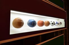The museum of Football is a space devoted to the different subjects involving the practice, the history and cur, Sao Paulo, Brazi. Sao Paulo, Brazil: The museum royalty free stock photography
