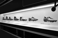 The museum of Football is a space devoted to the different subjects involving the practice, the history and cur, Sao Paulo, Brazi royalty free stock photo
