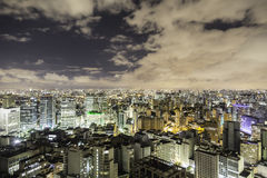 Sao Paulo in Brazil at night Stock Photo