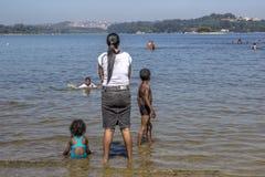 People on Park Praia do Sol royalty free stock photo
