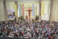 Catholic Mass in honor of St. Jude Day stock photo