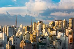 Sao Paulo, Brazil. Partial view of the region of Paulista Avenue, Sao Paulo, Brazil Stock Photo