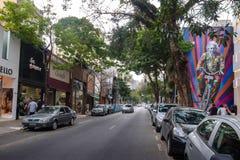Oscar Freire, a fancy shopping street - Sao Paulo, Brazil. Sao Paulo, Brazil - Sep 27, 2017: Oscar Freire, a fancy shopping street - Sao Paulo, Brazil stock images