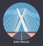 Sao Paulo, Brazil, Vector Icon stock illustration
