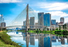 Sao Paulo bridge in Brazil Stock Images