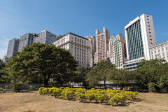 Sao Paulo Buildings. Buildings of Anhangabau Valley in Sao Paulo City, Brazil Royalty Free Stock Photo