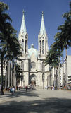 Sao Paulo cathedral, Brazil. The Catedral Metropolitana (Cathedral) of Sao Paulo, Brazil, is a huge neo-Gothic structure located in Praça da Sé (Main Square Royalty Free Stock Photos