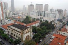Sao Paulo city. Elevated view of Sao Paulo city, Brazil Royalty Free Stock Image