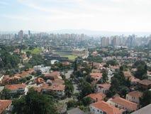 Sao Paulo city. Scenic view of Sao Paulo city with Pacaembu soccer stadium in distance, Brazil Royalty Free Stock Image