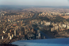 Sao Paulo City Brazil by Air Royalty Free Stock Image