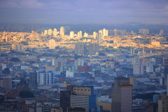 Sao Paulo city in the evening Royalty Free Stock Photo