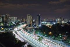 Sao Paulo city at night, Brazil Royalty Free Stock Images