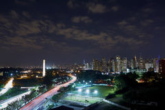 Sao Paulo city at night, Brazil Royalty Free Stock Photo