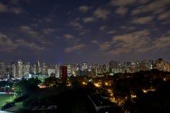 Sao Paulo city at night, Brazil Royalty Free Stock Photography