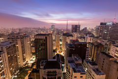 Sao Paulo City at Night Stock Photography
