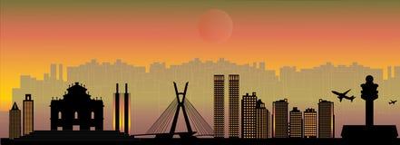 Sao Paulo City skyline Royalty Free Stock Images