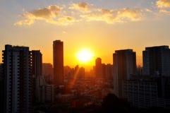 Sao Paulo city view. With sunset Stock Photo