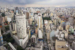Sao Paulo Cityscape, Brazil. Aerial view of the Sao Paulo, Brazil Stock Image
