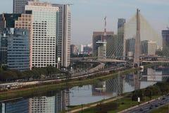 Sao Paulo. Cityscape famous bridge Stock Photos