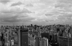 Sao Paulo de stad in, Sao Paulo, Brazilië Royalty-vrije Stock Afbeeldingen