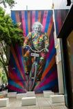 Sao Paulo Einstein Graffiti arkivbild