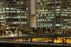 Sao Paulo-Gebäude nachts lizenzfreie stockfotografie