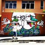 Sao Paulo Graffiti Arkivfoto