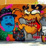 Sao Paulo Graffiti Imagen de archivo