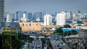 Sao Paulo Highway Traffic Brazil South Amerika Fotografering för Bildbyråer