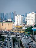 Sao Paulo Highway Traffic Brazil South Amerika Arkivfoto