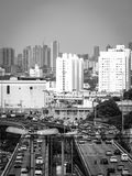 Sao Paulo Highway Traffic Brazil South Amerika Royaltyfri Bild